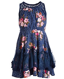 Epic Threads Little Girls Floral Challis Dress, Created for Macy's
