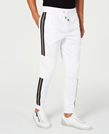I.N.C. Men's Moto Side Stripe Joggers, Created for Macy's