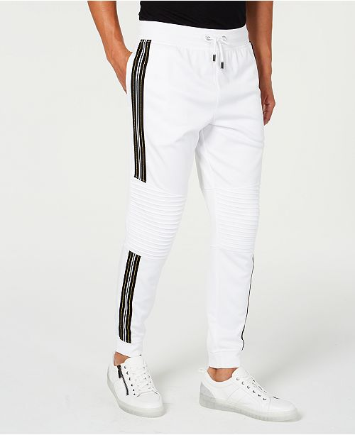 INC International Concepts INC Men's Moto Side Stripe Joggers, Created for Macy's