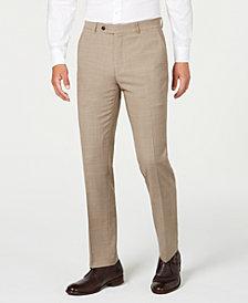 Tommy Hilfiger Men's Modern-Fit THFlex Stretch Tan Sharkskin Suit Separate Pants