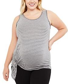 Motherhood Maternity Plus Size Tie-Side Tank Top