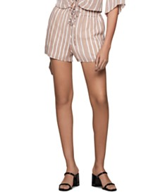 BCBGeneration Striped Paperbag Shorts