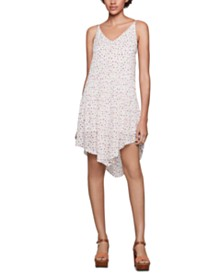 BCBGeneration Printed Asymmetrical A-Line Dress