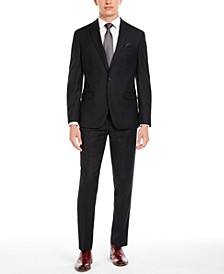 Men's Slim-Fit Black Stripe Suit Separates, Created for Macy's