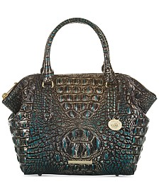 Brahmin Mini Camila Melbourne Embossed Leather Satchel