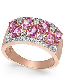 Pink Sapphire (2-1/10 ct. t.w.) & Diamond (3/8 ct. t.w.) Ring in 14k Rose Gold