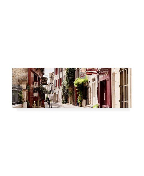 "Trademark Global Philippe Hugonnard France Provence 2 Provencal Street Uzes Canvas Art - 27"" x 33.5"""