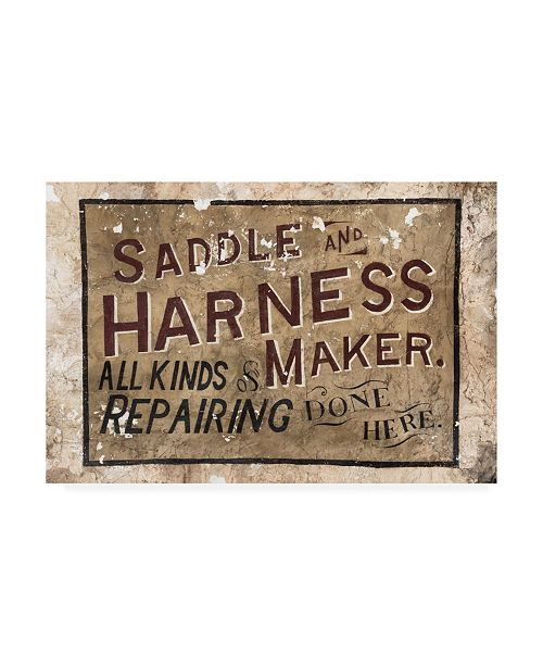 "Trademark Global Philippe Hugonnard Made in Spain Wild West Sign III Canvas Art - 19.5"" x 26"""