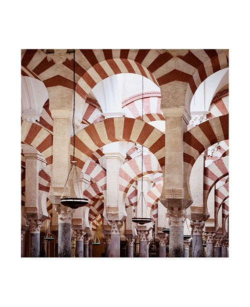 "Trademark Global Philippe Hugonnard Made in Spain 3 Columns Mosque Cathedral of Cordoba Canvas Art - 36.5"" x 48"""