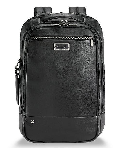 Briggs & Riley @Work Medium Leather Backpack