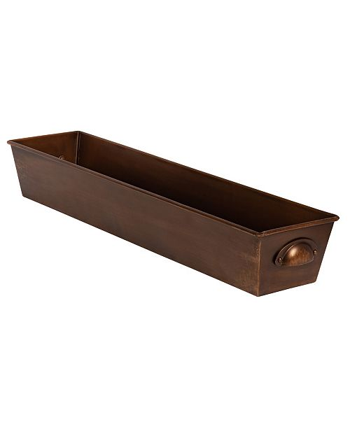 """Kate and Laurel Forgeham Metal Tray with Handles - 26"""" x 6"""""""