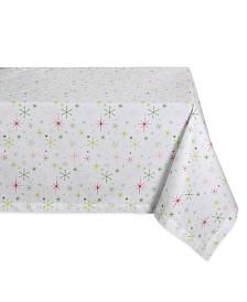 "Design Imports Christmas Star Print Table Cloth 60"" x 120"""