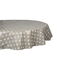 "Design Imports Polka Dot Vinyl Tablecloth 70"" Round"
