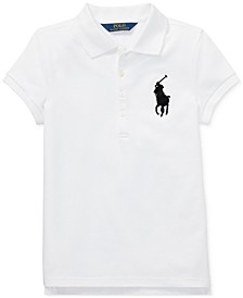 Big Girls Big Pony Stretch Mesh Polo Shirt