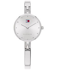 Tommy Hilfiger Women's Stainless Steel Bangle Bracelet Watch 26mm, Created For Macy's