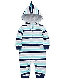 Baby Boys Hooded Striped Cotton Coverall