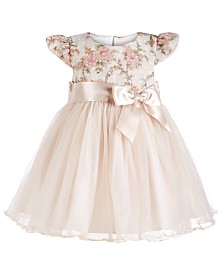 Bonnie Baby Baby Girls Floral Lace Ballerina Dress