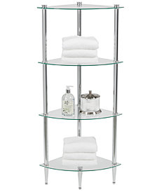 Creative Bath Accessories, 4 Shelf Corner Tower