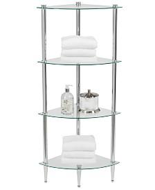 Creative Bath Accessories, 4 Shelf Corner Tower