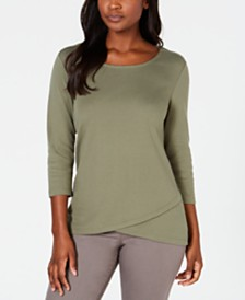Karen Scott Tulip-Hem Top, Created for Macy's