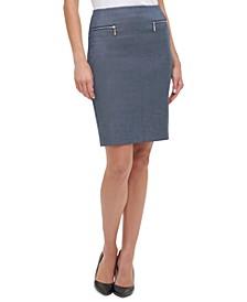Chambray Pencil Skirt