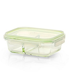 2-Compartment Glass Meal Prep Food Container Medium, 800ml