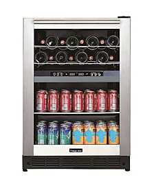 Magic Chef Dual-Zone Built-In Wine and Beverage Center