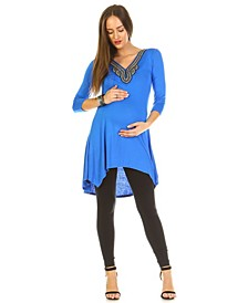 Maternity Sofia Embellished Tunic Top