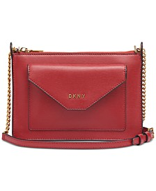 Alexa Top Zip Leather Crossbody, Created for Macy's