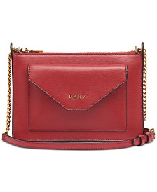 DKNY Alexa Top Zip Leather Crossbody, Created for Macy's