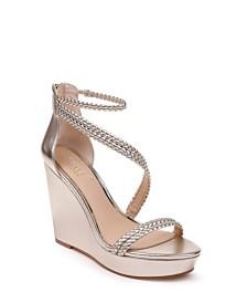 Jewel Badgley Mischka Suzy Wedge Sandals