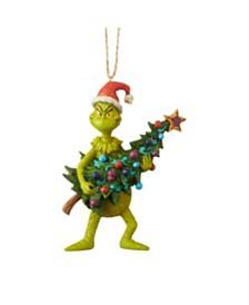 Jim Shore Grinch w/ Tree Ornament