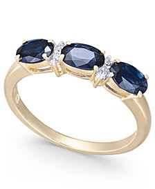 Sapphire (1-3/4 ct. t.w.) & Diamond (1/20 ct. t.w.) Ring in 14k Gold