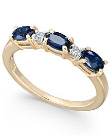 Sapphire (1-1/5 ct. t.w.) & Diamond (1/20 ct. t.w.) Ring in 14k Gold