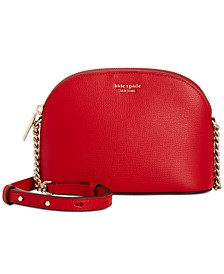 Sylvia Small Dome Leather Crossbody