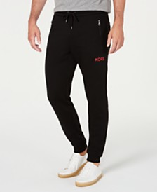Michael Kors Men's Logo Fleece Joggers, Created for Macy's