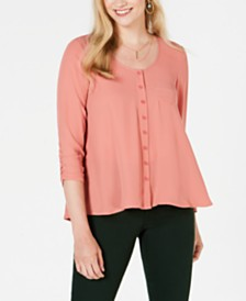 Style & Co High-Low Swing Top, Created for Macy's