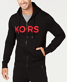 Michael Kors Men's Logo Fleece Full-Zip Hoodie, Created for Macy's