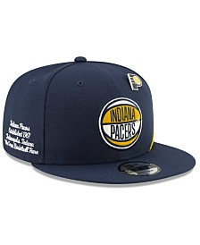 New Era Big Boys Indiana Pacers 2019 On-Court Collection 9FIFTY Snapback Cap