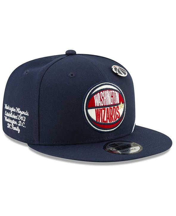 New Era Big Boys Washington Wizards 2019 On-Court Collection 9FIFTY Snapback Cap