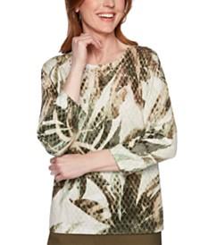 Alfred Dunner Cedar Canyon Cotton Sweater