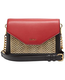 Alexa Leather Colorblock Flap Crossbody, Created for Macy's