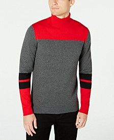 Men's Blocked Turtleneck Sweater, Created for Macy'