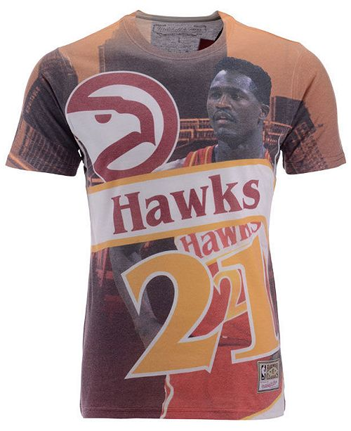 Mitchell & Ness Men's Dominique Wilkins Atlanta Hawks City Pride Name And Number T-Shirt