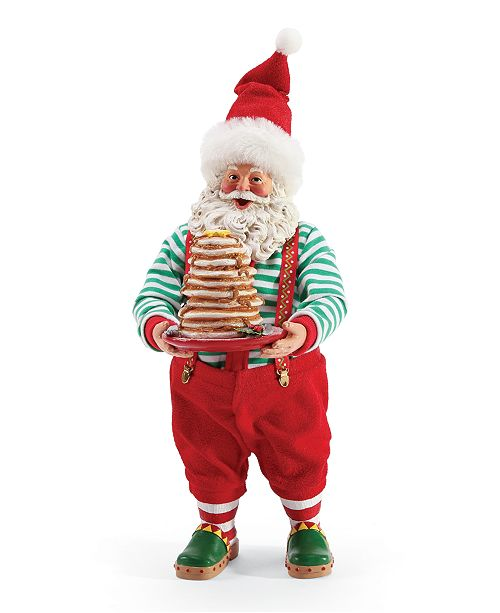 Department 56 Possible Dreams Santa Full Stack of Pancakes Figurine