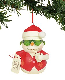 Department 56 Snowpinions He Sees You When You're Drinking Ornament