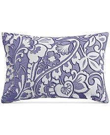 """Blue Paisley 12"""" x 18"""" Decorative Pillow, Created for Macy's"""