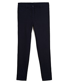 Big Girls School Uniform Sateen Pants