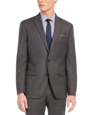 Men's Slim-Fit Gray Flannel Suit Separate Jacket, Created for Macy's