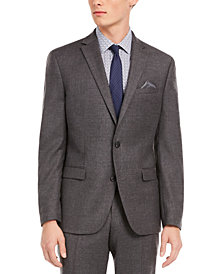 Bar III Men's Slim-Fit Gray Flannel Suit Separate Jacket, Created for Macy's